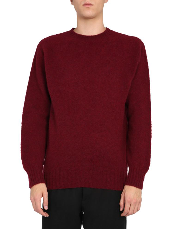 Ymc You Must Create Crew Neck Sweater In Bordeaux