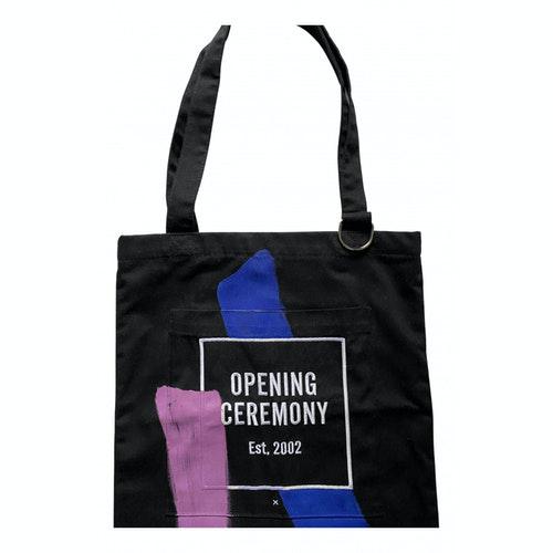 Pre-owned Opening Ceremony Black Cotton Handbag