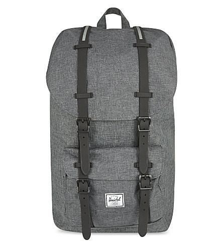 Herschel Supply Co Little America Backpack In Charcoal