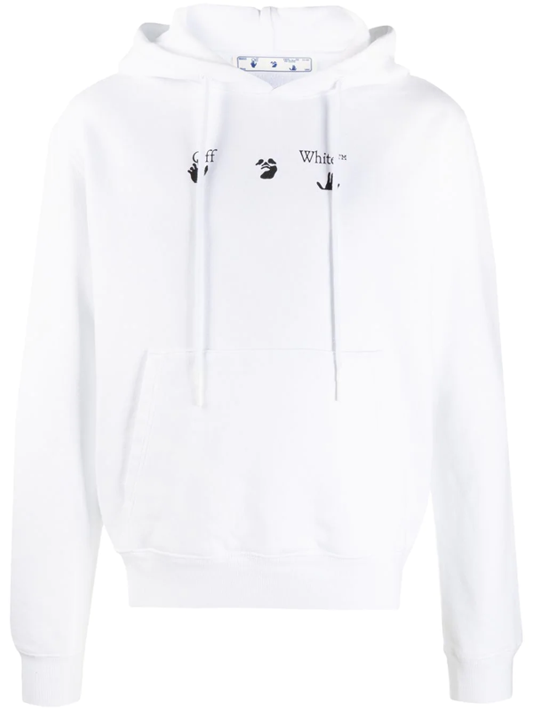Off-white Peace Worldwide Sweatshirt In White Cotton
