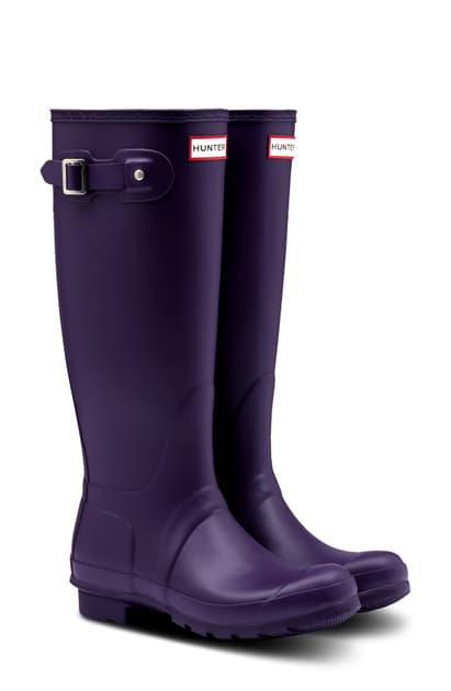 Hunter Original Tall Waterproof Rain Boot In Cavendish Blue/ Blue