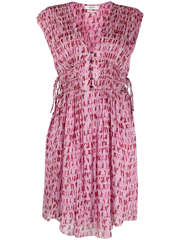 Isabel Marant Étoile Segun Printed Sleeveless Mini Dress In Red