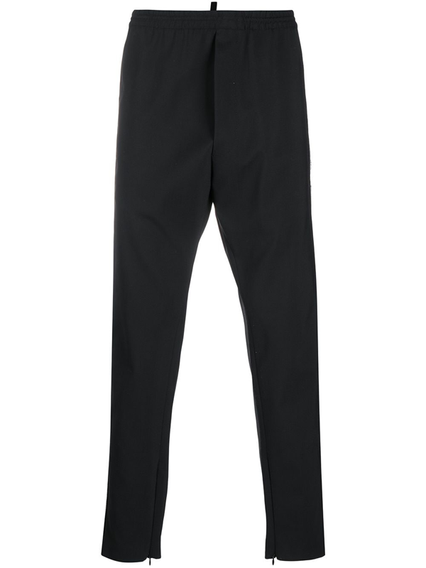 Dsquared2 Black Virgin Wool Blend Trousers