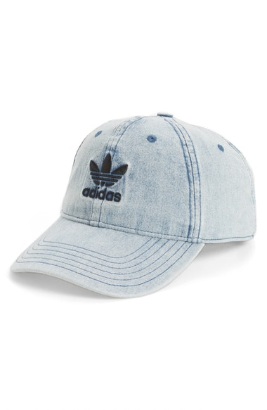 db503bbf5c1fa Adidas Women s Originals Cotton Relaxed Washed Strap-Back Hat In Light Blue