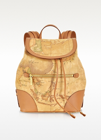 "Alviero Martini 1a Classe 1a Prima Classe - Geo Printed ""neo Casual""  Backpack In Brown"