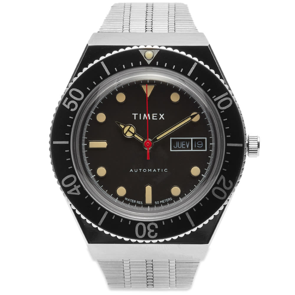Timex Archive M-79 Automatic Reissue Diver Watch In Black