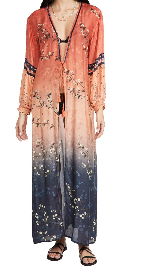 Agua Bendita Isabelle Ornit Kimono In Orange