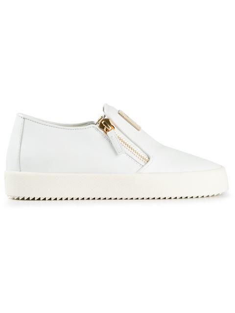 Giuseppe Zanotti Side Zip Fastening Sneakers In White