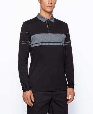Hugo Boss Boss Men's Plisy Regular-fit Polo Shirt In Black