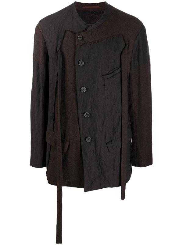 Ziggy Chen Tassel-detail Jacket In Brown