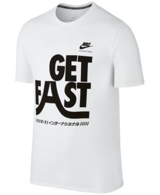 Nike Men's International Graphic Cotton T-Shirt In White