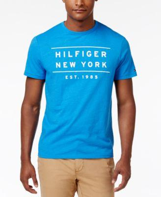 Tommy Hilfiger Men's Graphic Print T-Shirt In French Blue