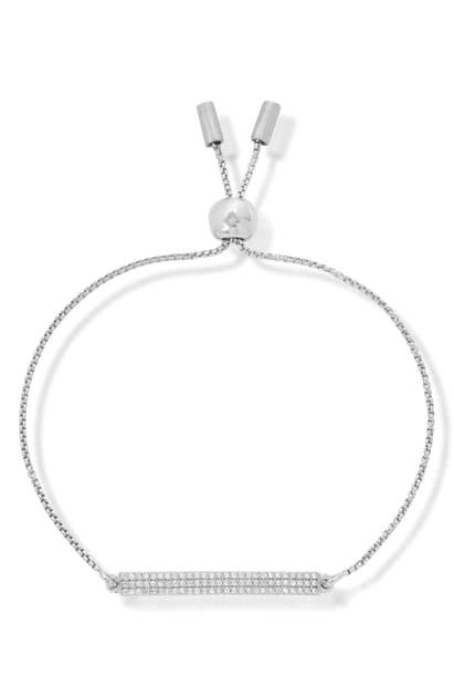 Dean Davidson Signature Pave Slide Bracelet In White Topaz/silver