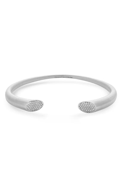 Dean Davidson Signature Pave Twin Cuff Bracelet In White Topaz/silver