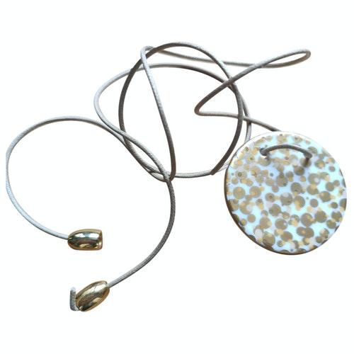 Pre-owned Bernardaud Gold Ceramic Necklace