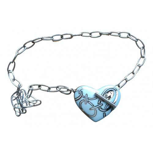 Pre-owned Bernardaud Blue Ceramic Necklace