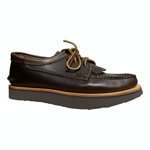 Pre-owned Yuketen Brown Leather Lace Ups