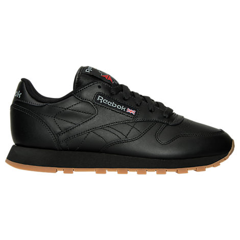 963061592d4b3 Reebok Women s Classic Leather Casual Sneakers From Finish Line In Black