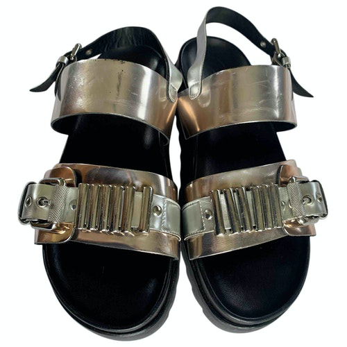 Pre-owned Mcq By Alexander Mcqueen Metallic Leather Sandals