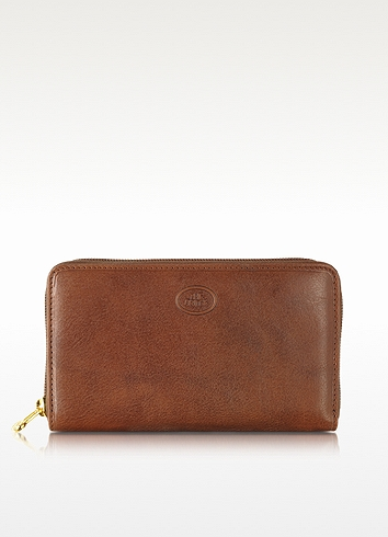 The Bridge Story Donna Leather Women's Zip Around Wallet In Brown
