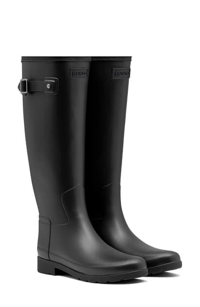Hunter Original Refined Waterproof Rain Boot In Black