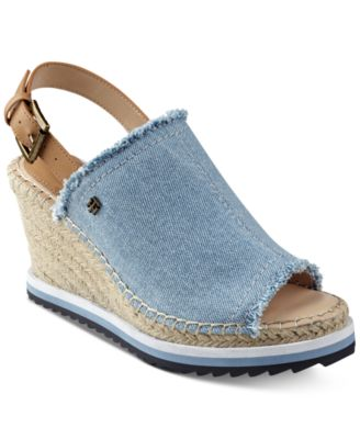 purchase cheap best place buy popular Tommy Hilfiger Yolanda Slingback Platform Wedge Sandals Women's ...