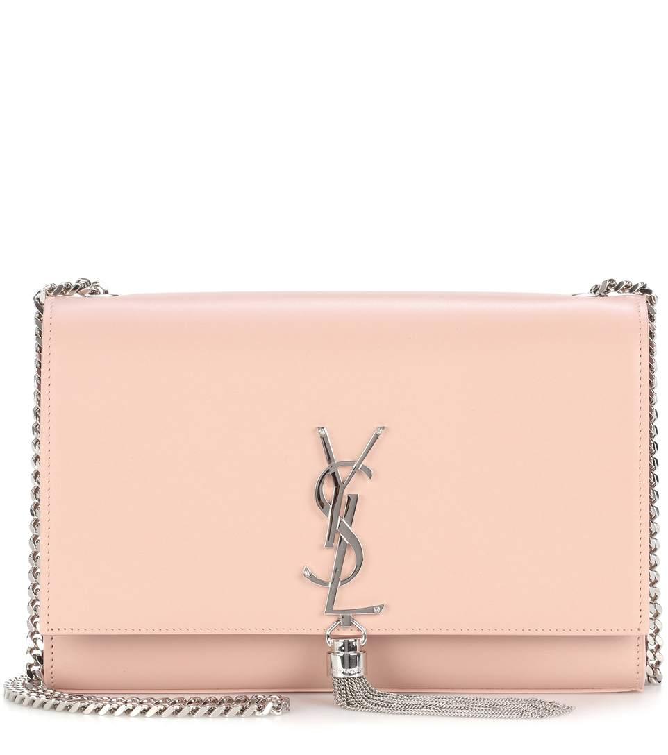 6a2dedb773b Saint Laurent Medium Kate - Tassel Calfskin Leather Shoulder Bag - Pink