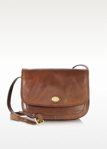 The Bridge Story Donna Marrone Leather Crossbody Bag In Dark Brown