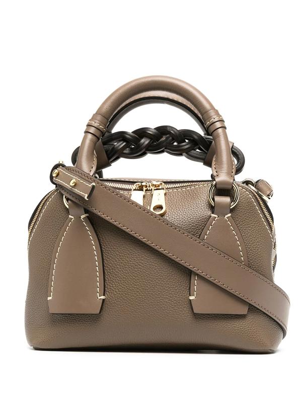 Chloé Small Daria Day Bag In Green