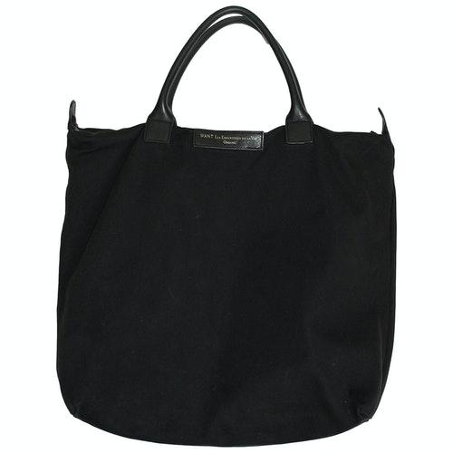 Pre-owned Want Les Essentiels De La Vie Black Cotton Bag