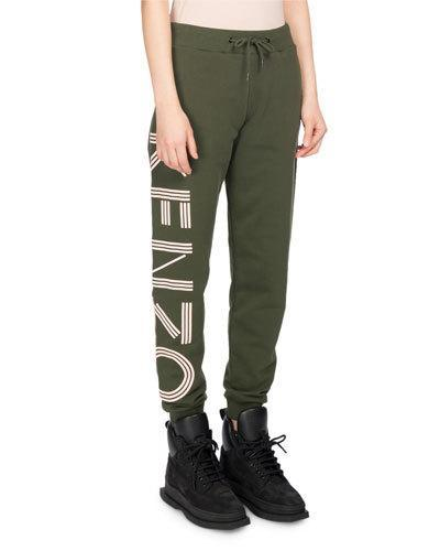 9b2dbf23 Kenzo Classic Logo-Side Cotton Jogger Pants, Olive   ModeSens