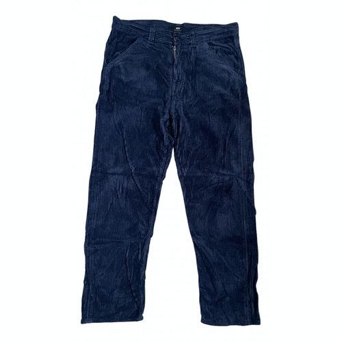 Pre-owned Edwin Blue Velvet Trousers