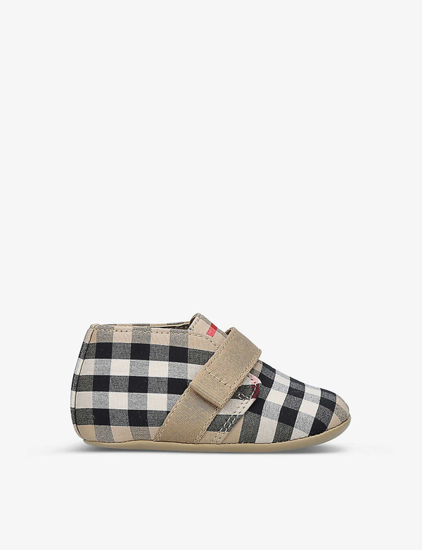 Burberry Kids' Charlton Vintage Check-print Cotton Booties