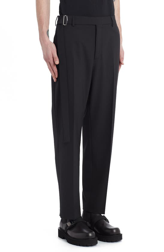 Valentino Belted Waist Straight Leg Pants In Black