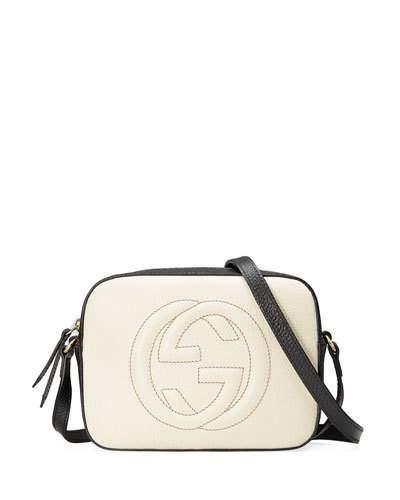 7750698724d9c8 Gucci Gg Zip-Top Small Camera Disco Bag, White/Black In Neutrals ...