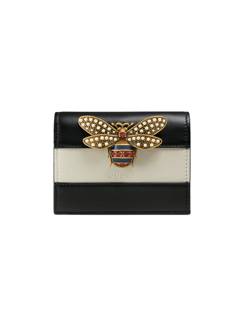 5467ceb5d80b Gucci Queen Margaret Colorblock Leather Wallet In Black | ModeSens