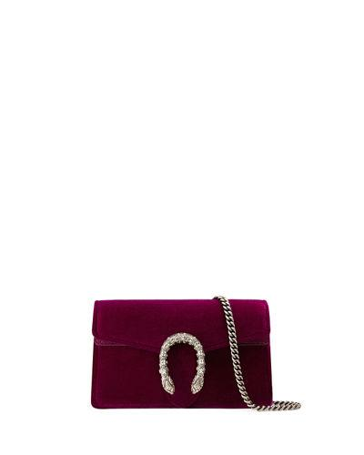 f191bd8d95f6 Gucci Super Mini Dionysus Velvet Shoulder Bag In Bordeaux Velvet ...