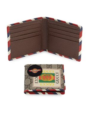 4fe766ad4571 Gucci Multi-Patch Bifold Wallet In Beige   ModeSens