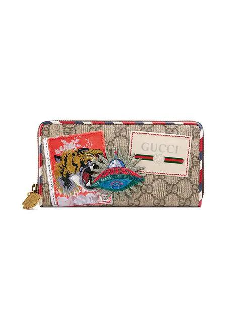 1df91480afad Gucci Courrier Gg Supreme Zip Around Wallet In 8899 Beige | ModeSens