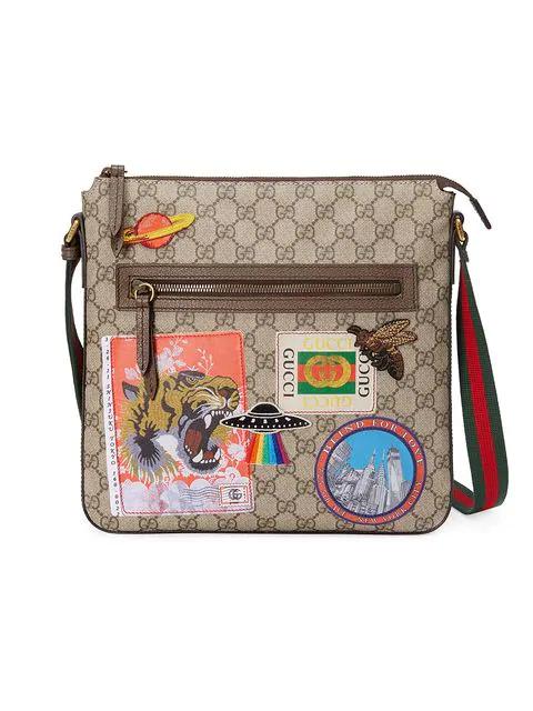 2135b5ace421 Gucci Gg Supreme AppliquÉD Messenger Bag - Beige, Tan In Neutrals ...