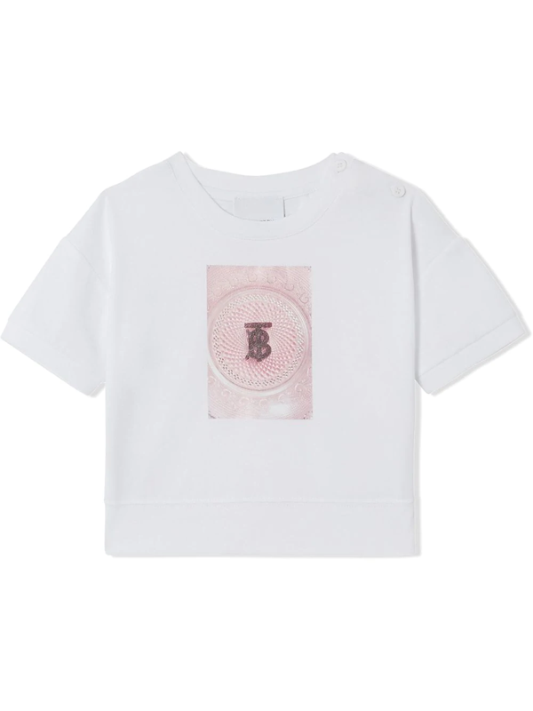 Burberry Babies' Kids Tb Monogram Confectionery T-shirt (6-24 Months) In White