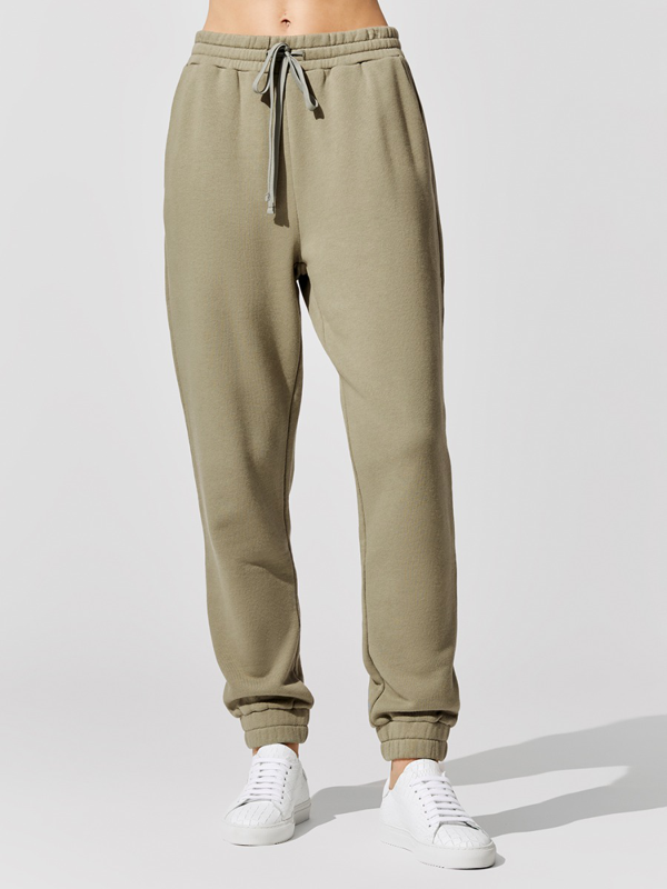 Carbon38 French Terry Jogger Pant Utility Green M