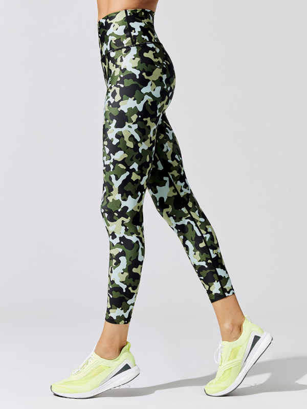 Carbon38 Printed High Rise 7/8 Legging In Refreshing Camo By  - L