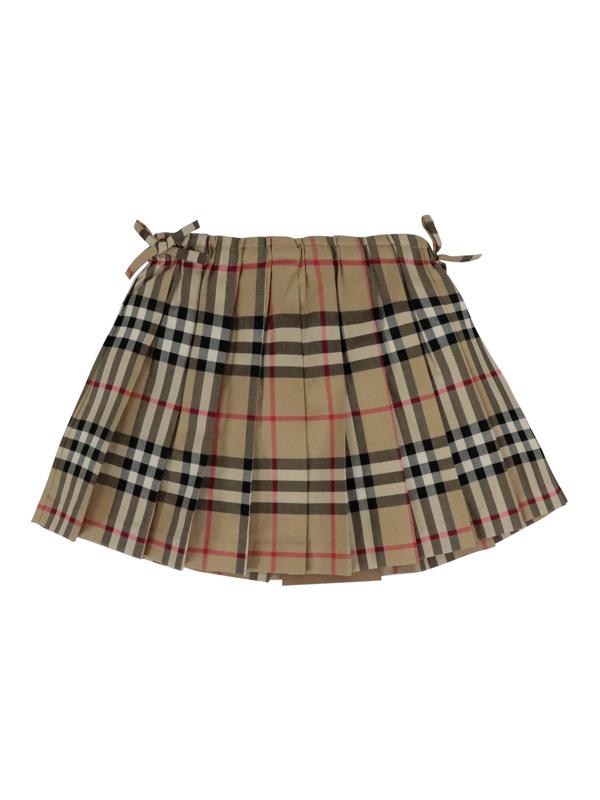 Burberry Kids' Vintage Check Cotton Skirt In Beige