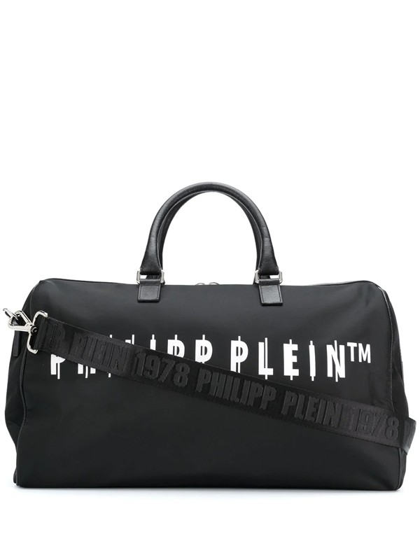 Philipp Plein Logo-print Holdall In Black