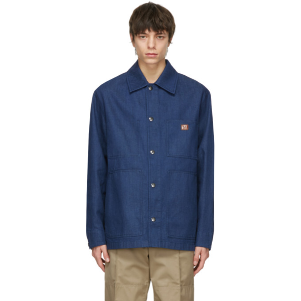 Acne Studios Oversized Workwear Denim Shirt-jacket In Indigo Blue