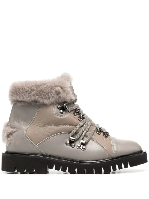 Lorena Antoniazzi Ankle Lace-up Boots In Neutrals