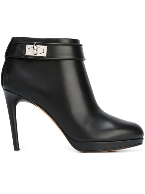 Givenchy Black Shark-lock Ankle Boot