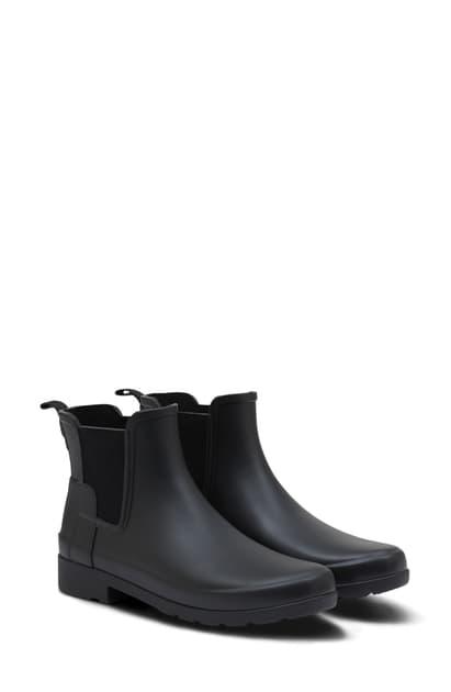 Hunter Refined Chelsea Boot In Black