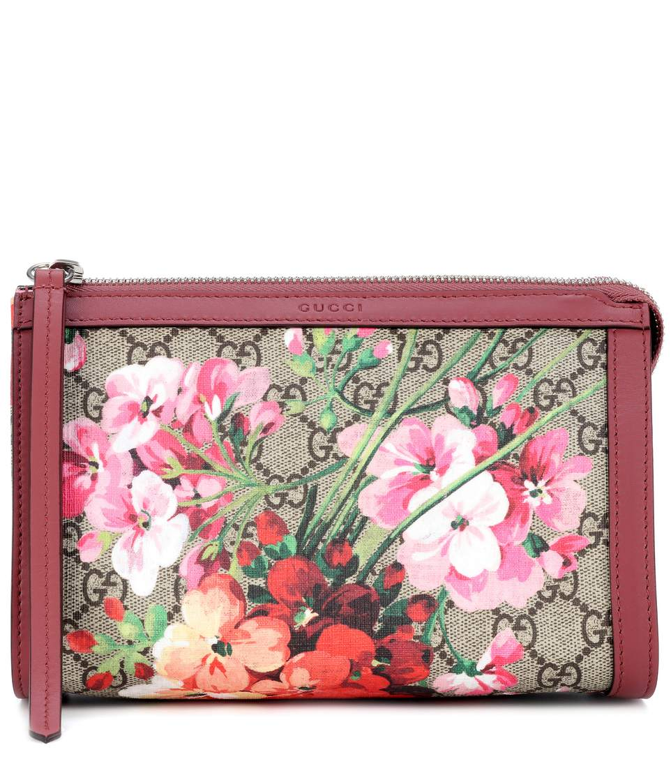 0a6371dbe05 Gucci Gg Blooms Small Cosmetic Case In Beige